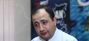Press conference of turkologist Ruben Melkonyan