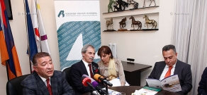 Press conference of Samvel Chzmachyan, Hakob Andreasyan and Jean Jacques Montois