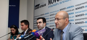 Press conference of Garegin Melkonyan, Andrey Pyatakhin and Karen Vardanyan