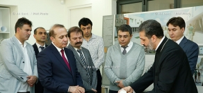 RA Govt.: Prime minister Hovik Abrahamyan visist Ayb School