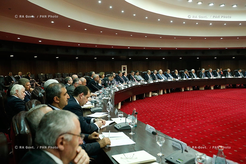 RA Govt.: Meeting between MFA central staff members and Heads of Armenian diplomatic missions