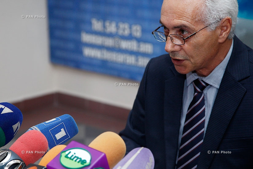Press conference of Gurgen Martirosyan,  head of Price Statistics and International Comparisons Division of RA National Statistical Service
