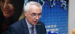 Пресс-конференция начальника отдела статистики цен и международных сопоставлений Национальной статистической службы Армении Гургена Мартиросяна
