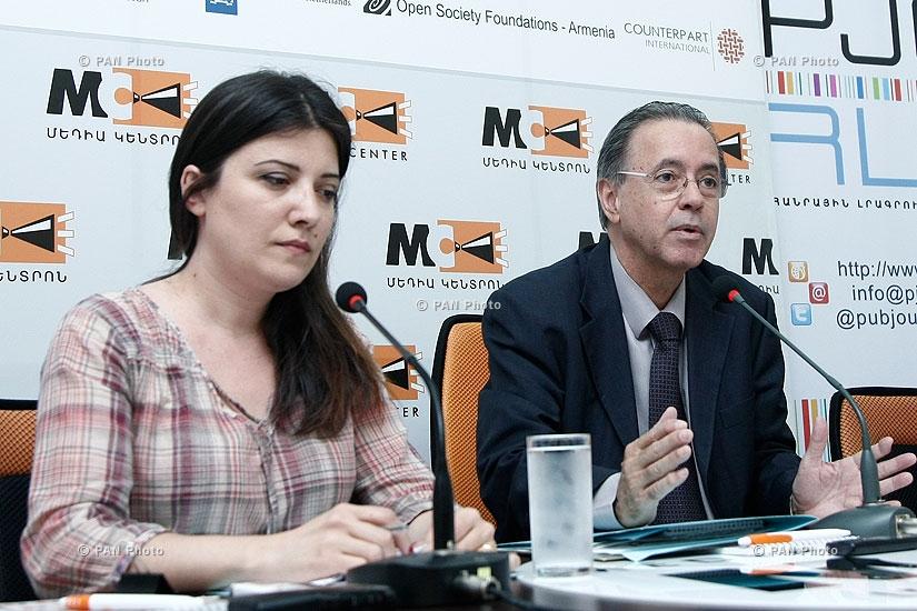 Press conference of Edson Marinho Duarte Monteiro, Ambassador of Brazil to Armenia