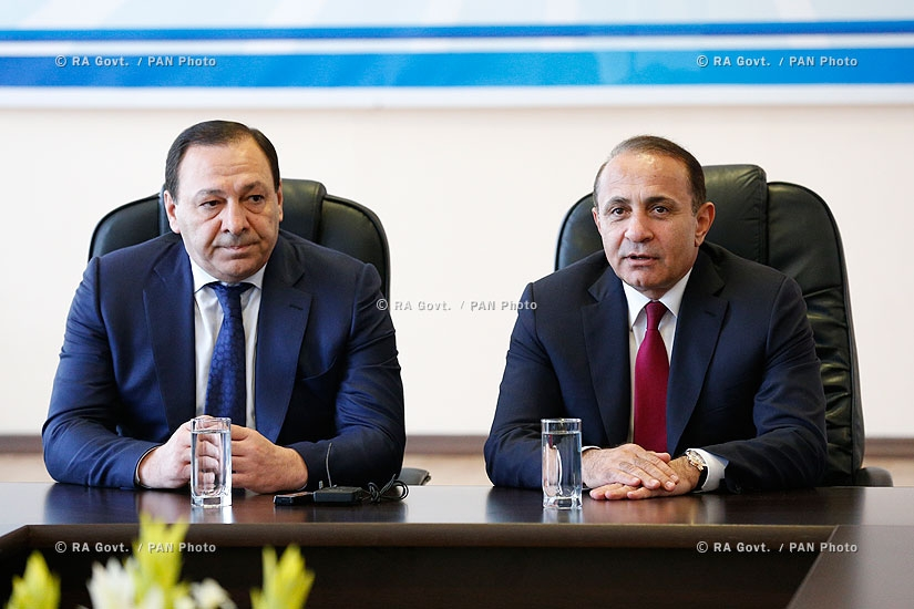 RA Govt.: PM Hovik Abrahamyan intodces chairman of the State Committee of Real Estate Cadastre Martin Sargsyan