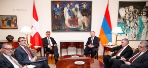 Armenian Foreign minister Edward Nalbandyan receives delegation, led by President of Switzerland, OSCE Chairperson-in-Office Didier Burkhalter