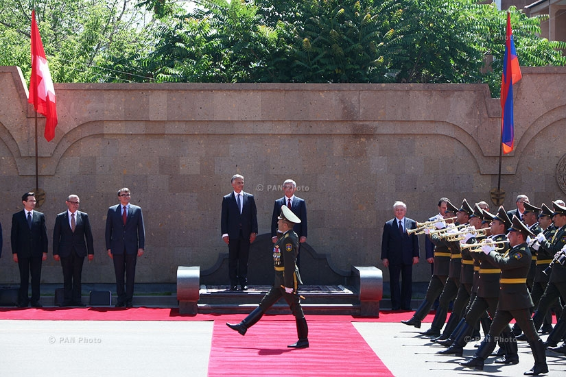 Welcoming ceremony for President of Switzerland, OSCE Chairperson-in-Office Didier Burkhalter