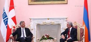 Президент Армении Серж Саркисян принял президента Швейцарии, действующего председателя ОБСЕ Дидье Буркхальтера