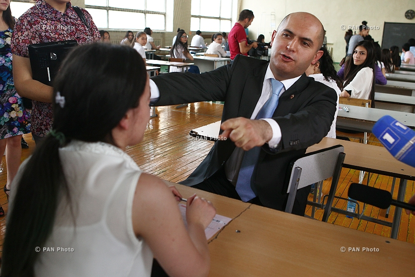 Armenian language and literature examinations start