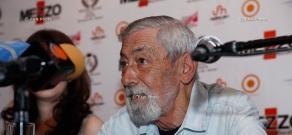 Press conference of famous Georgian singer and actor Vakhtang Kikabidze