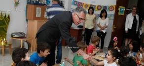 French ambassador to Armenia Henri Reynaud visits French Kindergarten