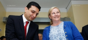 RA Minister of Health Armen Muradyan and Swedish Minister for Trade Ewa Björling visit National Oncology Center of Armenia