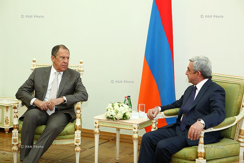 Armenian President Serzh Sargsyan receives Russian Foreign Minister Sergey Lavrov