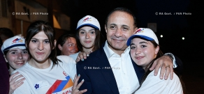 """RA Govt.: Hovik Abrahamyan meets with participants of """"Come Home"""