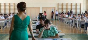 RA Minister of Education and Science Armen Ashotyan visits YSU examination center