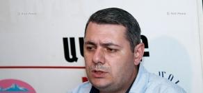 Press conference of Caucasus Institute Deputy Director, politician Sergey Minasya