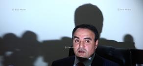 Press conference of Orinats Yerkir party leader Artur Baghdasayran