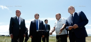 RA Govt.: PM Hovik Abrahamyan visits hail-affected areas in Shirak Province