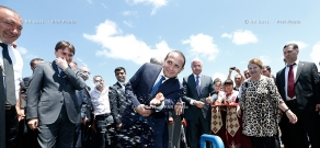 RA Govt.: PM Hovik Abrahamyan participates in the official opening of a new waterline in Arevshat village