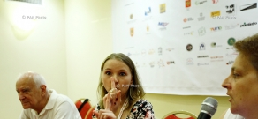 Press conference of actress Yana Novikova: 11th Golden Apricot Film Festival