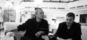 Filmmakers Kim Ki-duk and Amos Gitai. 11th Golden Apricot Film Festival