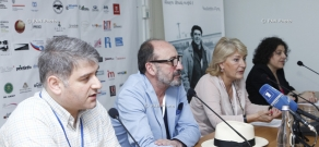 Press conference of Harutyun Khachatryan, Nino Anjaparidze and Malkhas Saladze: 11th Golden Apricot Film Festival