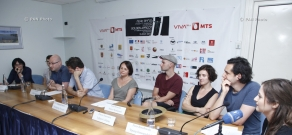 Press conference of Avi Weissblei, Heilika Pikkov, Tatyana Petrik,  Piotr Rosolowski and Elwira Niewiera: 11th Golden Apricot Film Festival