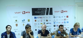 Press conference of Nikolay Hovhannisyan, Alexander Baghdasaryan, Aram Shahbazyan, Charlotte Schifler, Machay Marchevsky and Aram Karakhanyan: 11th Golden Apricot Film Festival