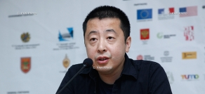 Press conference of Chinese film director Jia Zhangke: 11th Golden Apricot Film Festival