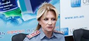Press conference of Police Colonel Nelly Duryan