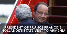 President of France Francois Hollande's state visit to Armenia