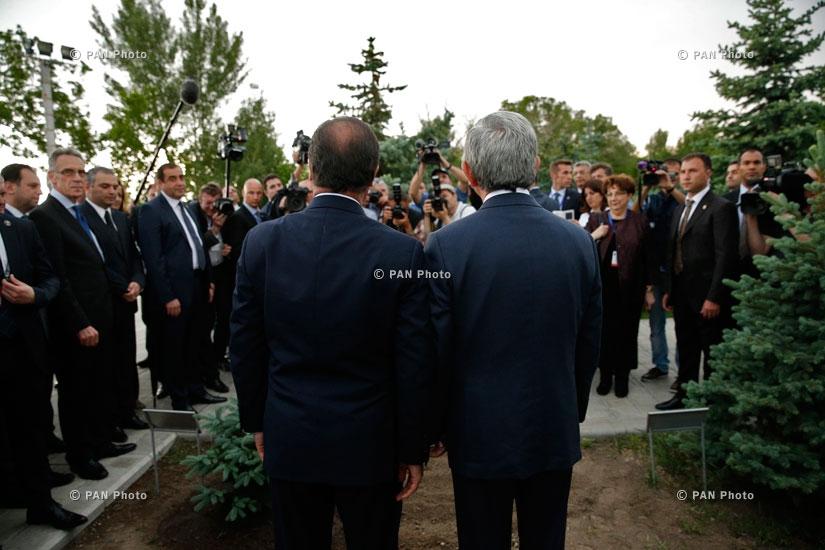 Ֆրանսիայի նախագահ Ֆրանսուա Օլանդի այցը Ծիծեռնակաբերդ