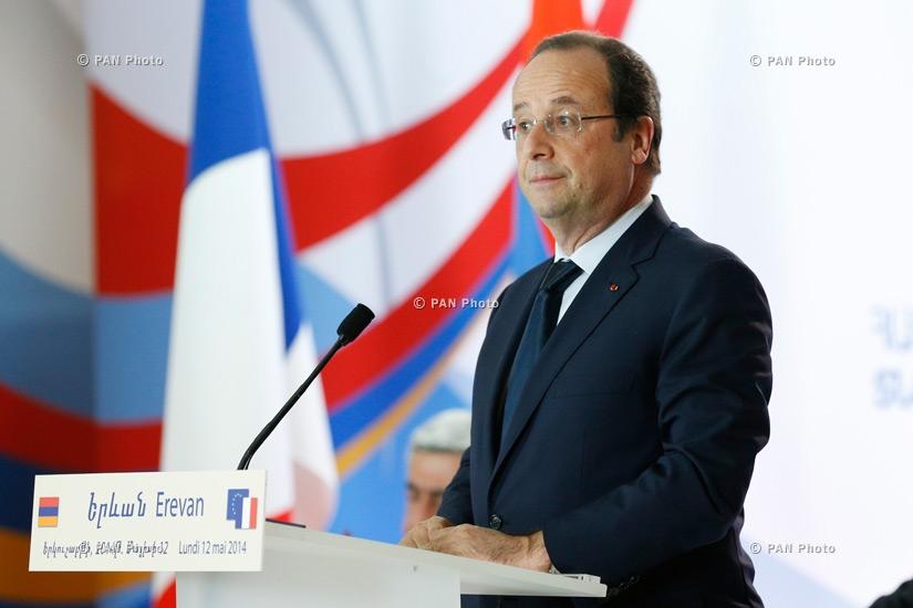 Президента Франции Франсуа Олланд на армяно-французском бизнес-форуме