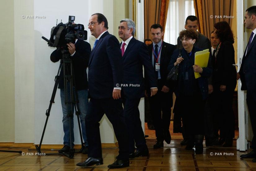 Հայաստանի ու Ֆրանսիայի պատվիրակությունների միջև բանակցությունները