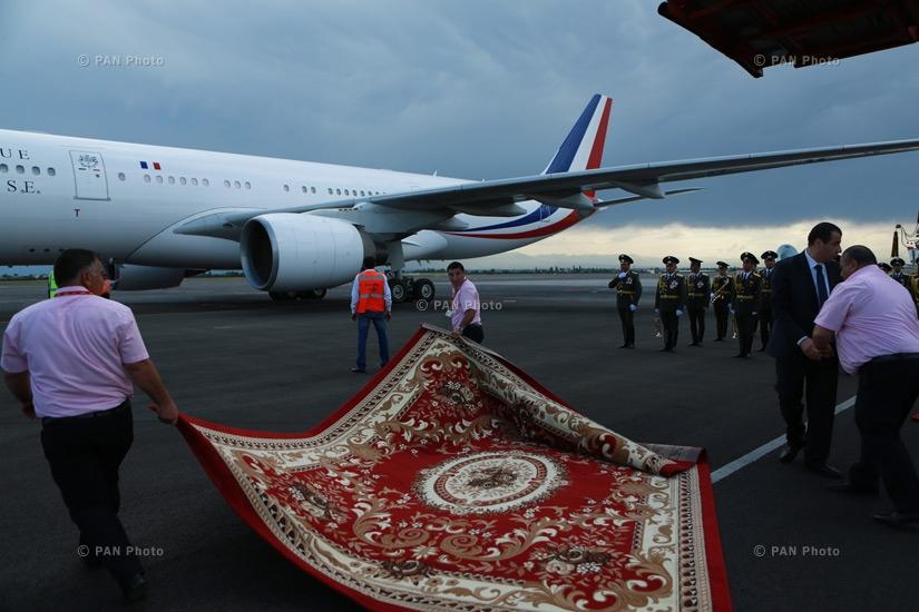 Прибытие президента Франции Франсуа Олланда в Ереван