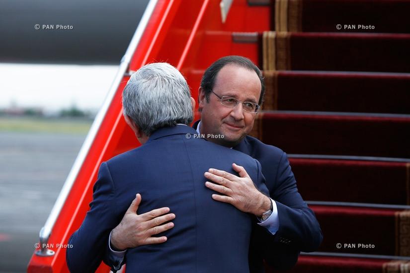 Ֆրանսիայի նախագահ Ֆրանսուա Օլանդի ժամանումը Երևան