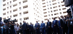 President Serzh Sargsyan attends new residential building opening ceremony