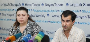 Press conference of Tamara Babayan and Ashot Mirzoyan