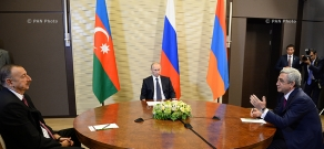Meeting between Serzh Sargsyan, Ilham Aliyev and Russian leader Vladimir Putin in Sochi