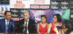 Press conference of Mekhak Apresyan, Vachagan Adunts, Nune Manukyan and Armine Israelyan on Syunik Traditions fest
