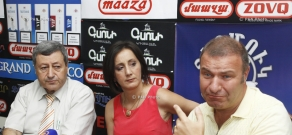 Press conference of Vazgen Safaryan and Mikael Melkumyan