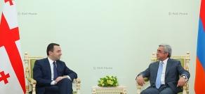 Президент Армении Серж Саркисян принял премьер-министра Грузии Ираклия  Гарибашвили