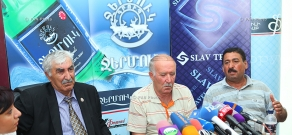 Press conference of President of the National Union of Yezidi in Armenia Aziz Tamoyan and  sheikh Bro Hasanyan