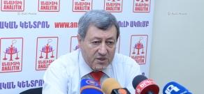 Пресс-конференция председателя Союза отечественных производителей Армении Вазгена Сафаряна