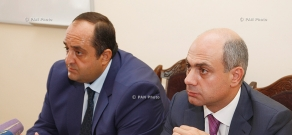 RA Minister of Justice Hovhannes Manukyan introduces new head of Criminal Executive Department of Justice Ministry Arthur Osikyan