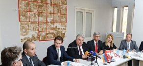 Delegation led by Foreign Minister of Austria Sebastian Kurz visits Red Cross Society (ARCS)
