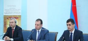 Press conference of Hovik Musaelyan, Vigen Sargsyan and Ralph Yirikyan