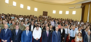 Armenian Defense Minister Seyran Ohanyan visits Armenian State University of Economics (ASUE)