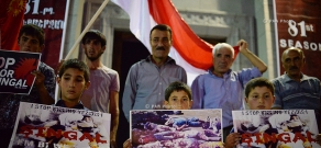 March against the genocide of Yazidis in Iraq