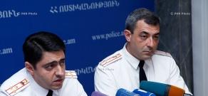 Пресс-конференция начальника 3-го управления Главного управления по борьбе с организованной преступностью полиции Армении Тиграна Петросяна